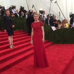 .@Yahoo President and CEO @MarissaMayer on the #MetGala red carpet. #ChinaLookingGlass #MarissaMayer http://t.co/GW22B8quab