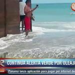 Continúa la alerta verde por fuertes oleajes en las playas del pacifico. #Panamá http://t.co/Lwe87Mwqxa