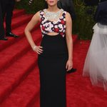 Jennifer Lawrence, co-chair of this years #MetGala, graced the red carpet in a Dior couture gown. #Diorcouture http://t.co/0JHr45S6t2