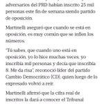 Declaraciones de Martinelli en el 2011 después de una inscripción del PRD.. Hoy Camacho inscribió 13 y dice que 40 http://t.co/aCrKYg6Meq