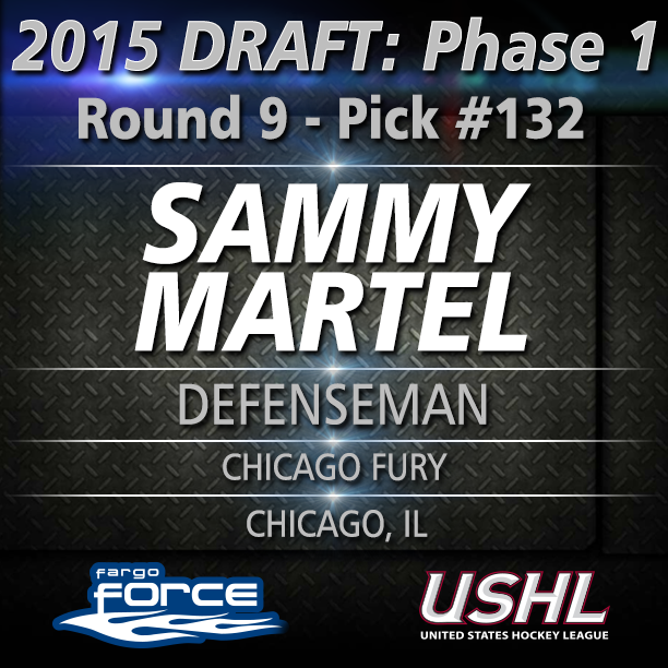 Round 9: Pick #132 overall Defenseman Sammy Martel from Chicago, IL (Chicago Fury) #USHLDraft http://t.co/JvsN5FhP7X