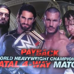 OFFICIAL: @TheDeanAmbrose joins @RandyOrton, @WWERomanReigns & @WWERollins in the #Fatal4Way at #WWEPayback! #RAW http://t.co/hbPd7G9731