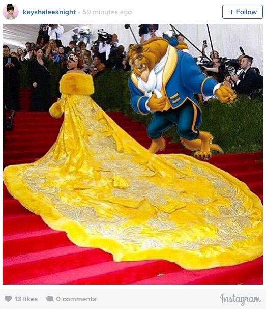 Here are some of the best Rihanna dress memes from the #MetGala: http://t.co/mP6a1eCjS1 http://t.co/NRJEavUqBl