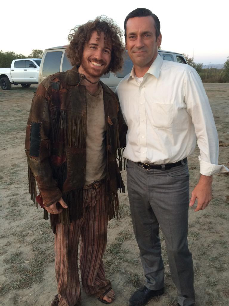this friend picked me up up off the side of the road yesterday. what a guy. #MadMen http://t.co/FA26iCOq2z