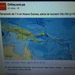 Alerta de Tsunami en el #Pacífico terremoto en Nueva Guinea 7.4 http://t.co/JAN2lFZWgc