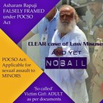 Why INNOCENT Asaram Bapu Ji is in jail, when that ADULT girl did POCSO Misuse? #WeUrgeBail4Bapuji http://t.co/1VZGBhReuk