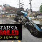 #DharnaDerailedNoonLeague like the light drizzle that took down this road in Lahore! PMLN youre going down!! http://t.co/ZOGu5Oi5J4