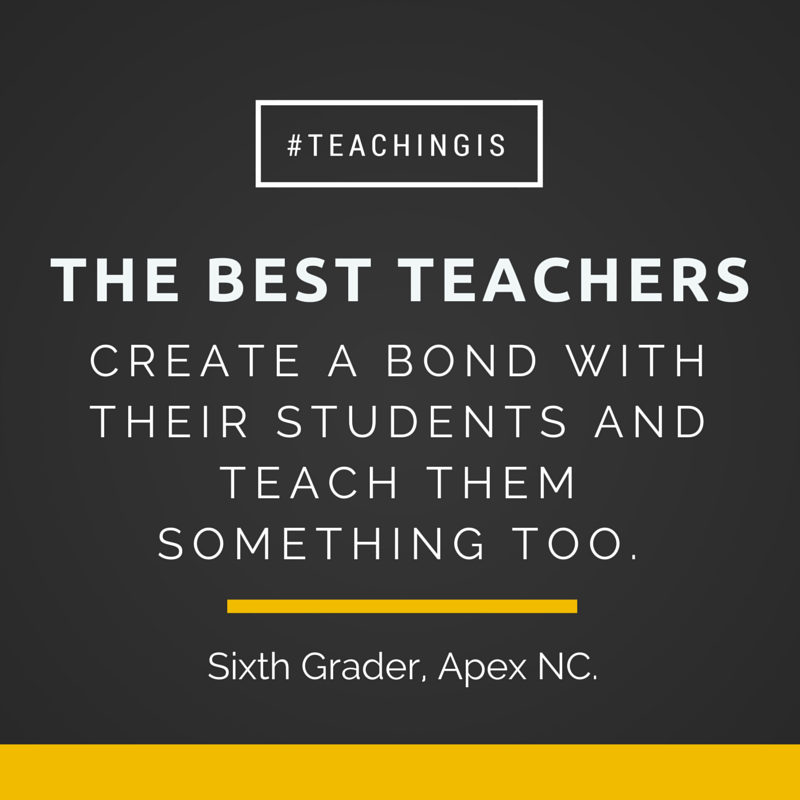 Here's a simple truth for you on National Teacher Day: We get to change lives for a living!  #awesome #teachingis http://t.co/bcgiNcqOTM