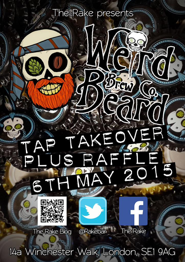 Tap takeover with @WeirdBeard_Brew tomorrow + raffle! Grab yourself a pint & get a ticket to win goodies! http://t.co/Ztum303tge