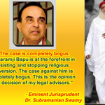 S. Swamy- Asaram Bapu Jis case is 100% false & bogus, it is a conspiracy #WeUrgeBailForBapuji  https://t.co/4zbhNX6ahJ