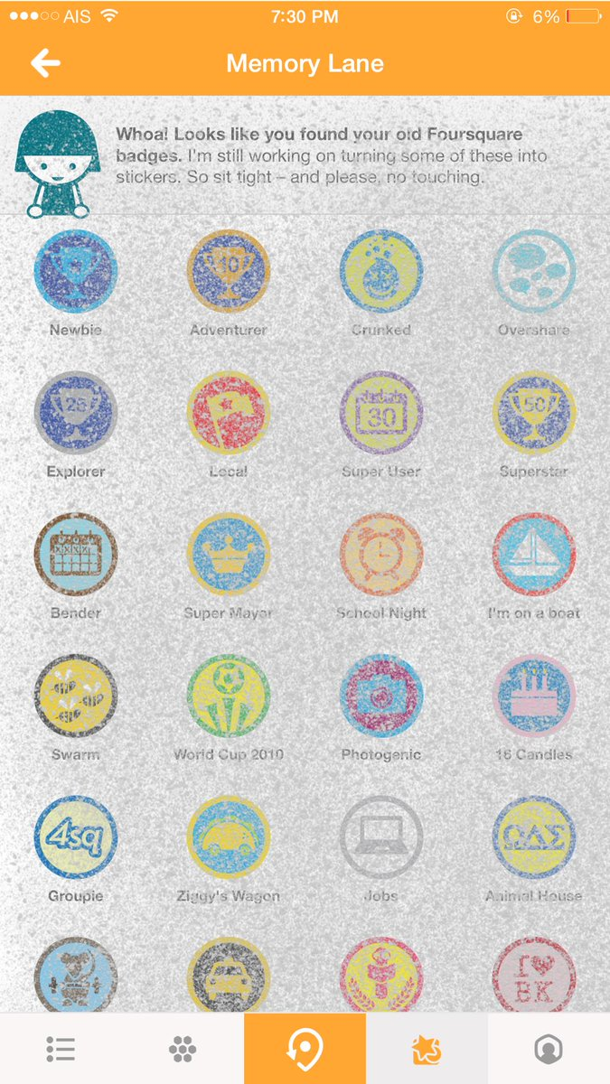 #foursquare badges กลับมาแล้วนะ รู้ยัง #4sqth http://t.co/usQ4BfrphQ