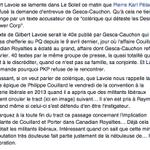 Le texte de Gilbert Lavoie serait le 40e visant PKP chez Gesca-Cauchon depuis le 9 avril. Réflexion matinale. http://t.co/HC0ccexQkZ