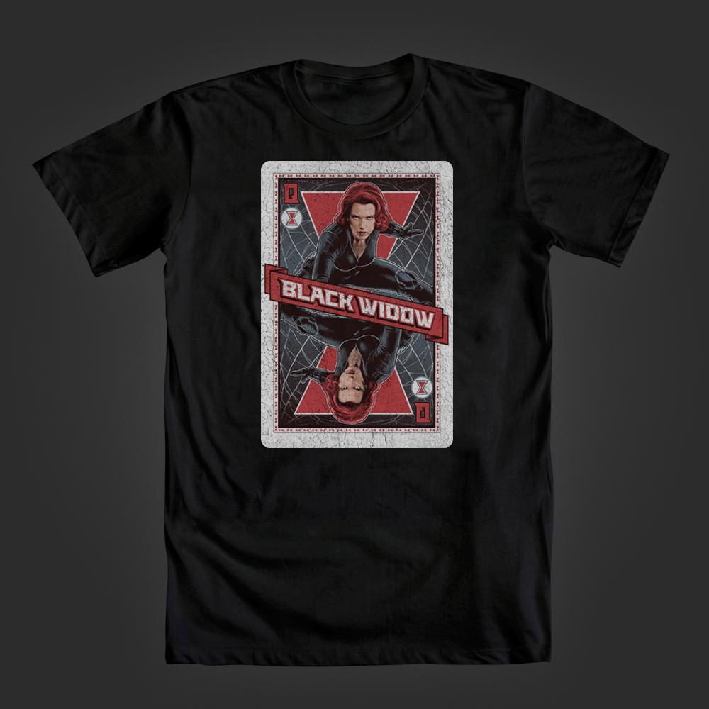 The Queen is here! @JoeTabs @AdriCowan @AgentM & @MiniB622! New #BlackWidow tee up now: http://t.co/R7pt6Q9IXI http://t.co/fKTpj1jUmA