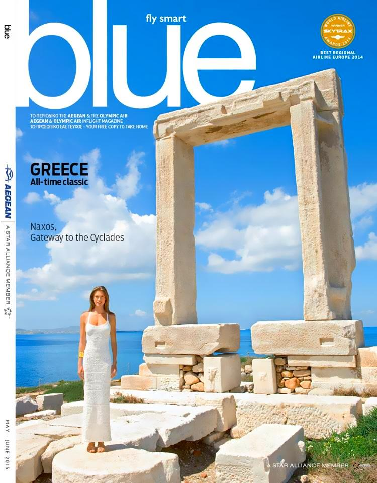 The new blueMagazine explores the beauty of Naxos! Find it in your next flight or