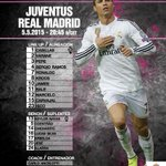Once inicial del Real Madrid frente a la Juventus. #JuntosAPorLaUndecima #RMLive http://t.co/FWjNqj58oH