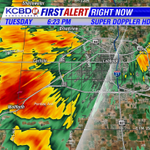 Small hail, gusty winds & torrential rain moving into SW Lubbock. Street flooding certain. http://t.co/ImTv0CZbnL