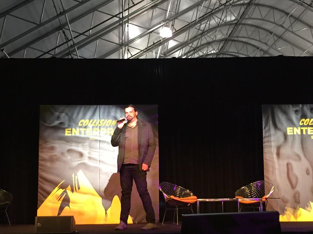 .@JohnPayPalDev emceeing at the #CollisionConf Enterprise Summit @braintree_dev http://t.co/BE0MOvGC3n