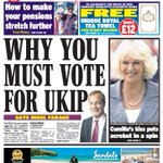 "DAILY EXPRESS FRONT PAGE: ""Why you must vote for UKIP , says Nigel Farage"" #skypapers http://t.co/otTfzGrYzy"