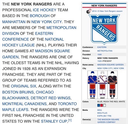 Someone changed the Rangers' Wikipedia page to ALL CAPS http://t.co/QTNam8K9oH (Via @NBCSN) http://t.co/YWny4O9rfd