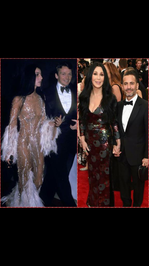 @cher at almost 69 (May 20th) looking flawless 41 years after she attended the Met Gala with @BobMackie in 1974! http://t.co/vR1xdZ6deA