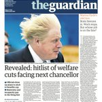 Guardian front page, Wednesday 6 May 2015 – Revealed: hitlist of welfare cuts facing next chancellor http://t.co/XCelcoogWQ