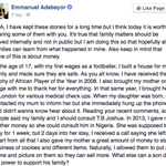 "@__Th3v1rtu0us ""@SlimDandyMUFC: After reading this by Adebayor. Be Glad for the family u have, some have had it worse http://t.co/qc8W56A7nO"