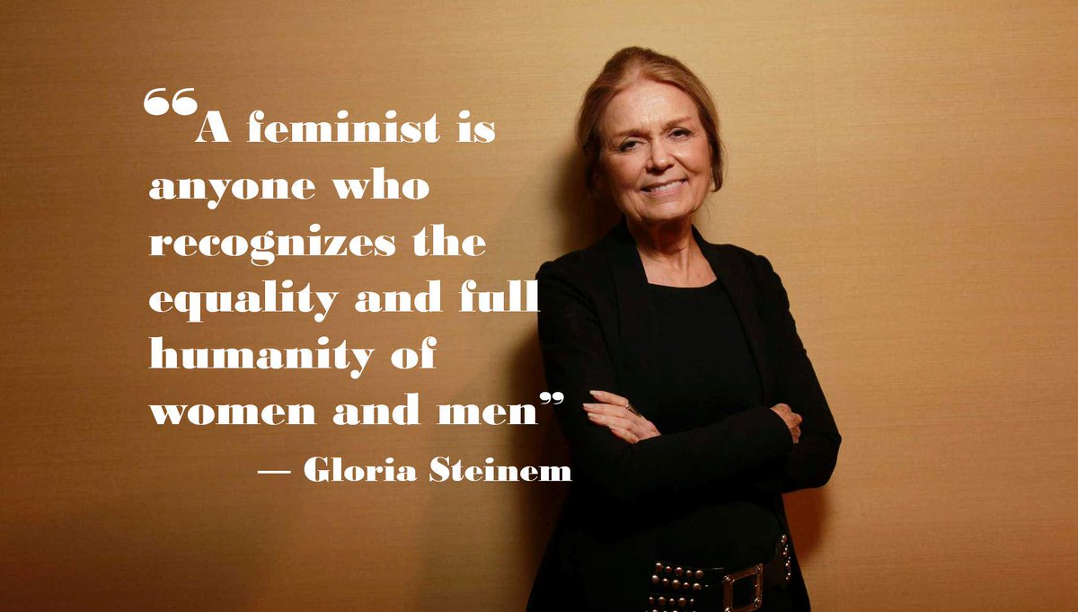 """A feminist is anyone who recognizes the equality & full humanity of women & men - @GloriaSteinem #HowToSpotAFeminist http://t.co/PLlNWh5v80"
