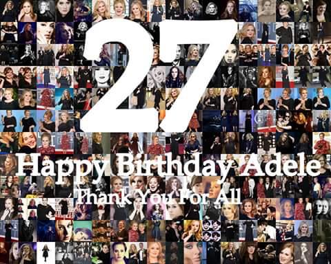 Happy birthday adele  i love
