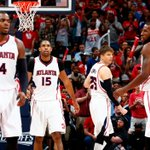 Hawks lead Wizards at halftime of Game 2, 53-46. Paul Millsap leads all scorers with 13. Washington leads series 1-0. http://t.co/xaYAF7Bz85