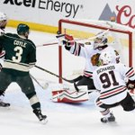 Crawford is perfect and the @NHLBlackhawks hold a 1-0 lead through 40 minutes. #CHIvsMIN #StanleyCup http://t.co/qkAsrWvGfV