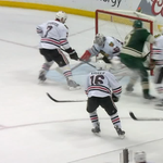 Corey Crawford pitches the shutout as the @NHLBlackhawks beat the Wild 1-0 in Game 3, take 3-0 lead in the series. http://t.co/AMhkDFHtq3
