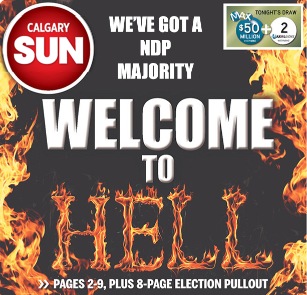 THIS WILL BE THE CALGARY SUN'S FRONT PAGE FOR TOMORROW: #abvote http://t.co/zRe3A7kMq1