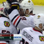 THATS IT! The @NHLBlackhawks win 1-0 over the @mnwild #StanleyCup http://t.co/0ba2U0EWAn