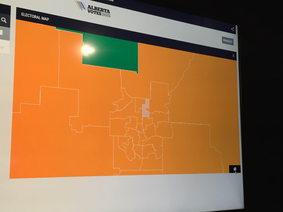 The http://t.co/pVEFNRFFif map is pure orange over Edmonton. #abvote http://t.co/3crqWkwIvo
