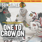 The front page of tomorrows @suntimes #Blackhawks special section, via @jeffreya22: http://t.co/gx05PQ53wS http://t.co/cW6qxWAv4f