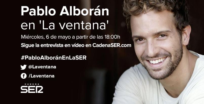 A las 18h entrevistamos a @pabloalboran http://t.co/AOmZzoAHlj Interpretará dos temas en directo #PabloAlboránEnLaSER http://t.co/lMFSyeU9eS