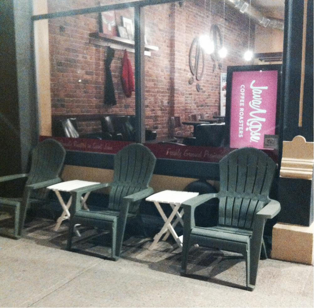 Spring is in the early morning air @uptownsaintjohn Grab a coffee! And grab a seat! http://t.co/0wJ07ZbZIR