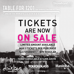 Table for 1201: TICKETS ARE NOW ON SALE! Tickets are limited, so get yours now! Available at: http://t.co/Rhyja9D4Su http://t.co/YNFo4Bqw9C