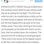 Off to Jakarta~RT woonwookhaehyuk [FANACCOUNT] 150506 Yesung waving to fans from the car // Hes such a tease T.T http://t.co/xwTAUzhof1