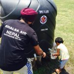 Nepal Update: In the burning heat, Khalsa Aid installed water tanks are helping immensely http://t.co/XBQkEG0isV