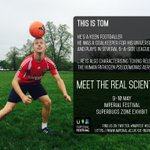 Meet Tom, a #scientist and so much more! #science #football #London #impfest#free @tomwood_pro http://t.co/HlBD5EsqYj
