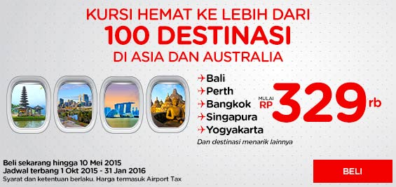 Kursi hemat ke lebih 100 destinasi di Asia & Australia. Pilih destinasinya dan pesan di