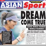RT @TheAsianToday: A DREAM COME TRUE - @MirzaSania NAMED WORLD NUMBER ONE http://t.co/ITSNvNAi6l