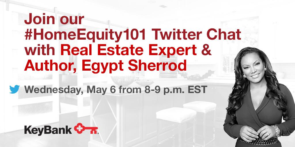 Calling all homeowners! Don't miss tonight's #HomeEquity101 Twitter chat with @KeyBank join us at 8pm EST! #Ad http://t.co/cuP5LlYSGH
