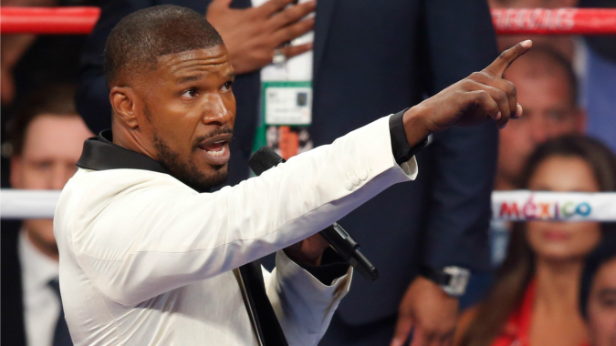 Jamie Foxx Talks MayPac National Anthem Controversy: