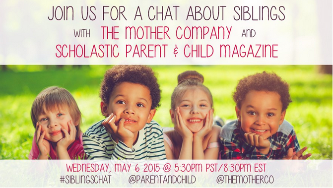 Siblings having trouble sharing? Come join us for #Siblingschat w @PARENTandCHILD 5:30 PM PT for tips and convo! http://t.co/KCwScjqxW0