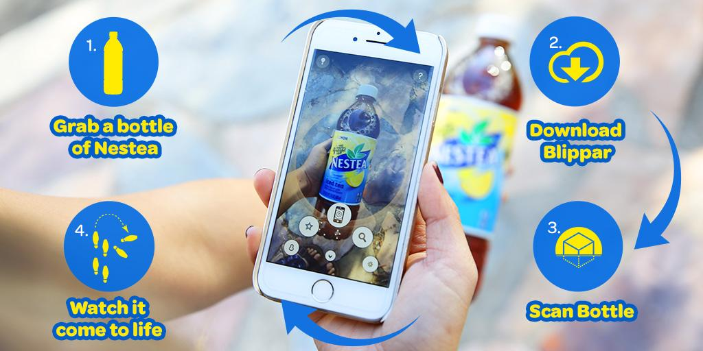 Have you blipped our bottle yet? Download @Blippar app, scan a bottle of Nestea & watch it come to life!#NESTEAplunge http://t.co/xAeAn5OWE5