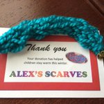 Received this piece of awesomeness today for contributing to#AlexsScarves! #Winnipeg #YouthEngagement http://t.co/ZUqtWEpISM