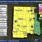 1025am - severe weather outlook for today. Not everyone will see severe weather, but stay alert! #okwx #texomawx http://t.co/DUkTEvLpgF