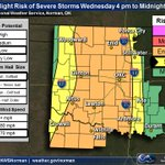1150am - our latest severe weather outlook. Storms not a guarantee, but if they form they will be severe!! #okwx http://t.co/jRo1etGMv0